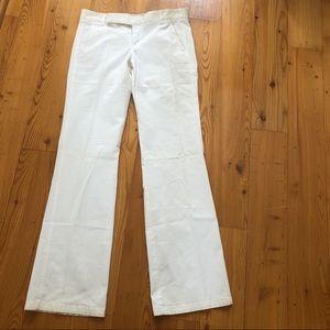 Vince. off white straight legs pants Sz 8